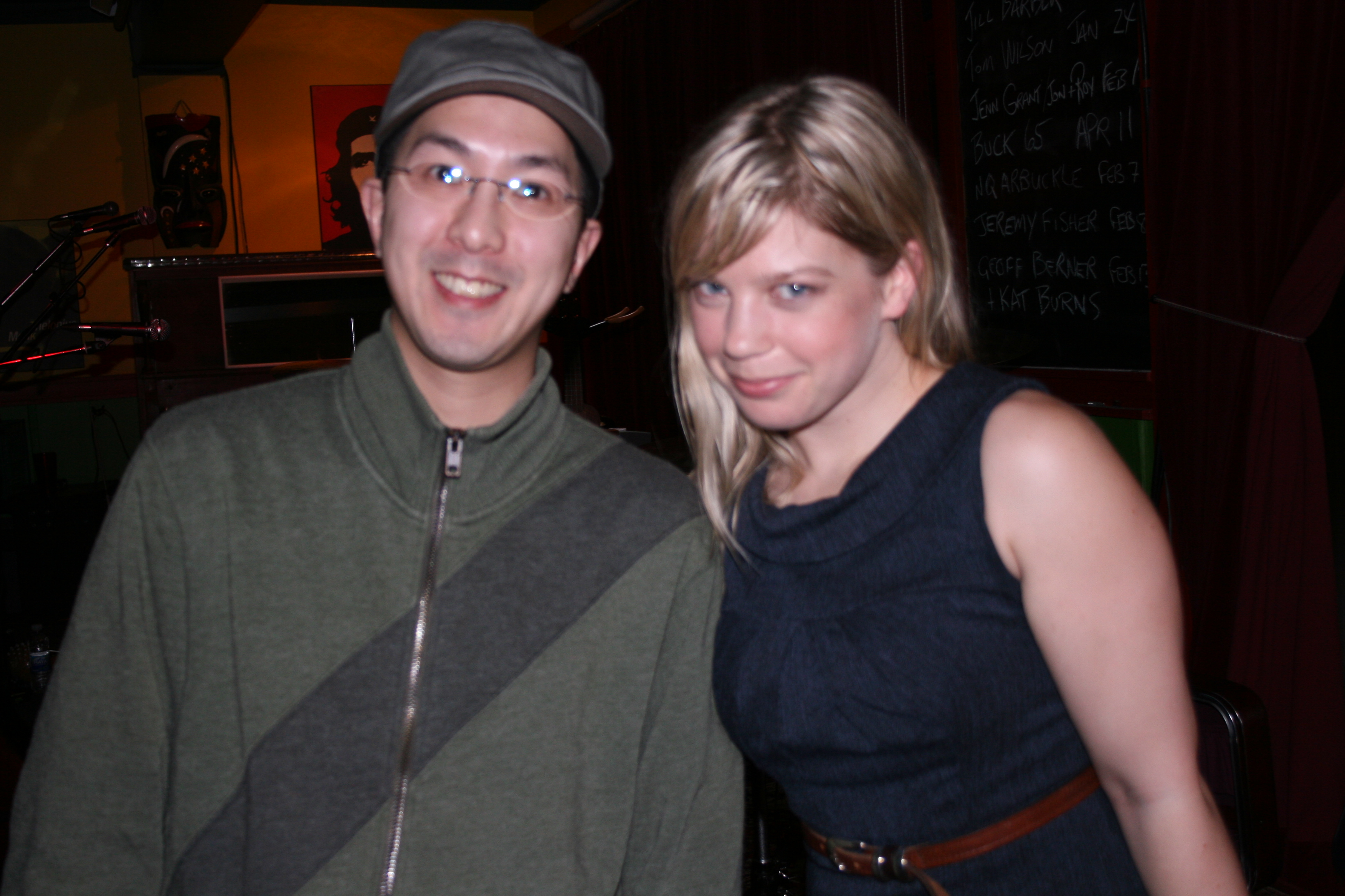 With Basia Bulat at The Black Sheep Inn on January 23, 2009