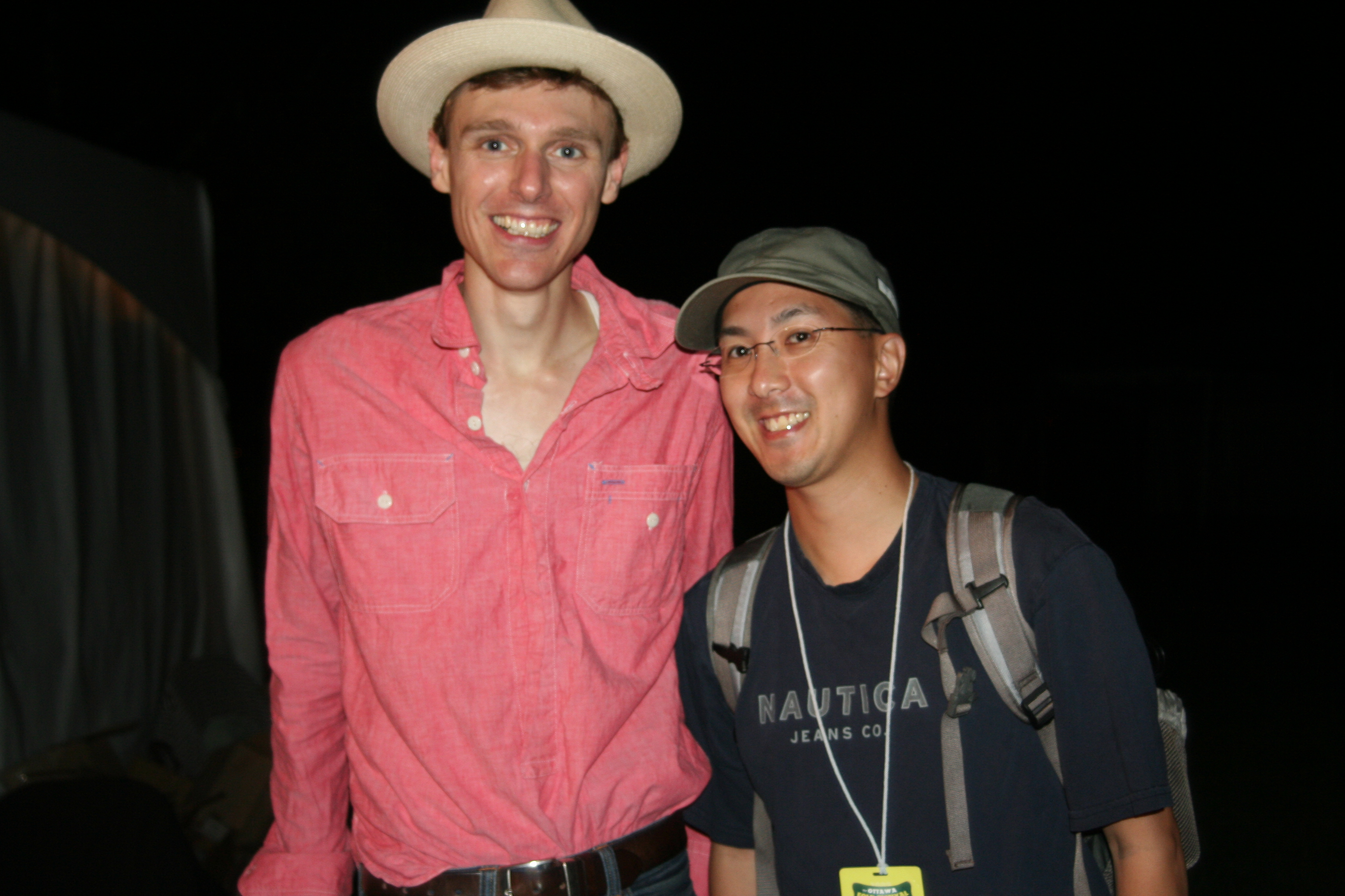 With Joel Plaskett at Ottawa Folk Festival.