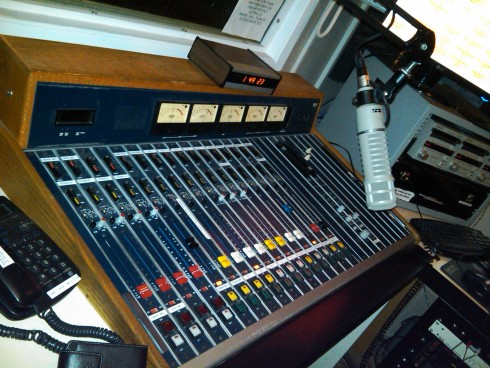 On-Air Studio Control Board