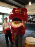 CTV Ottawa's Terry Marcotte holding the lion dance